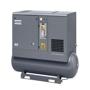 Atlas copco GX FF rotary screw air compressor with refrigerant dryer