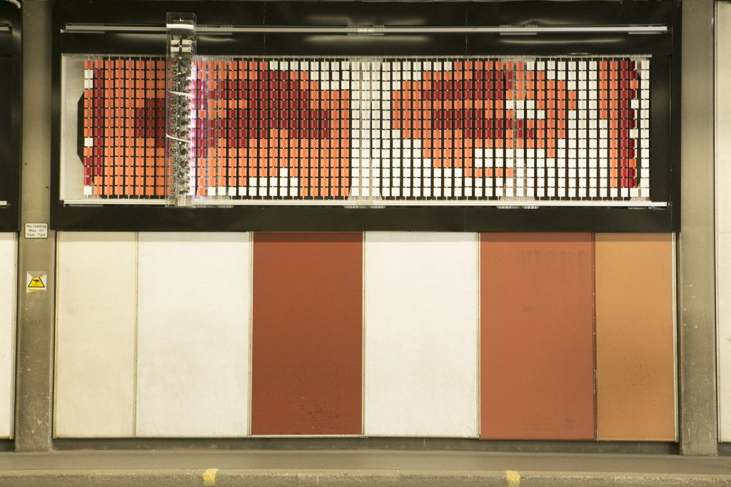 Brutalist Tapestry Beech Street Tunnel Jason Bruges Studio