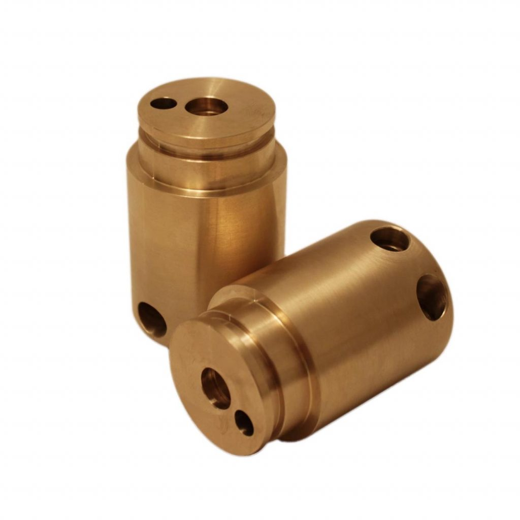 CNC Machined Brass Components Turned Lathe