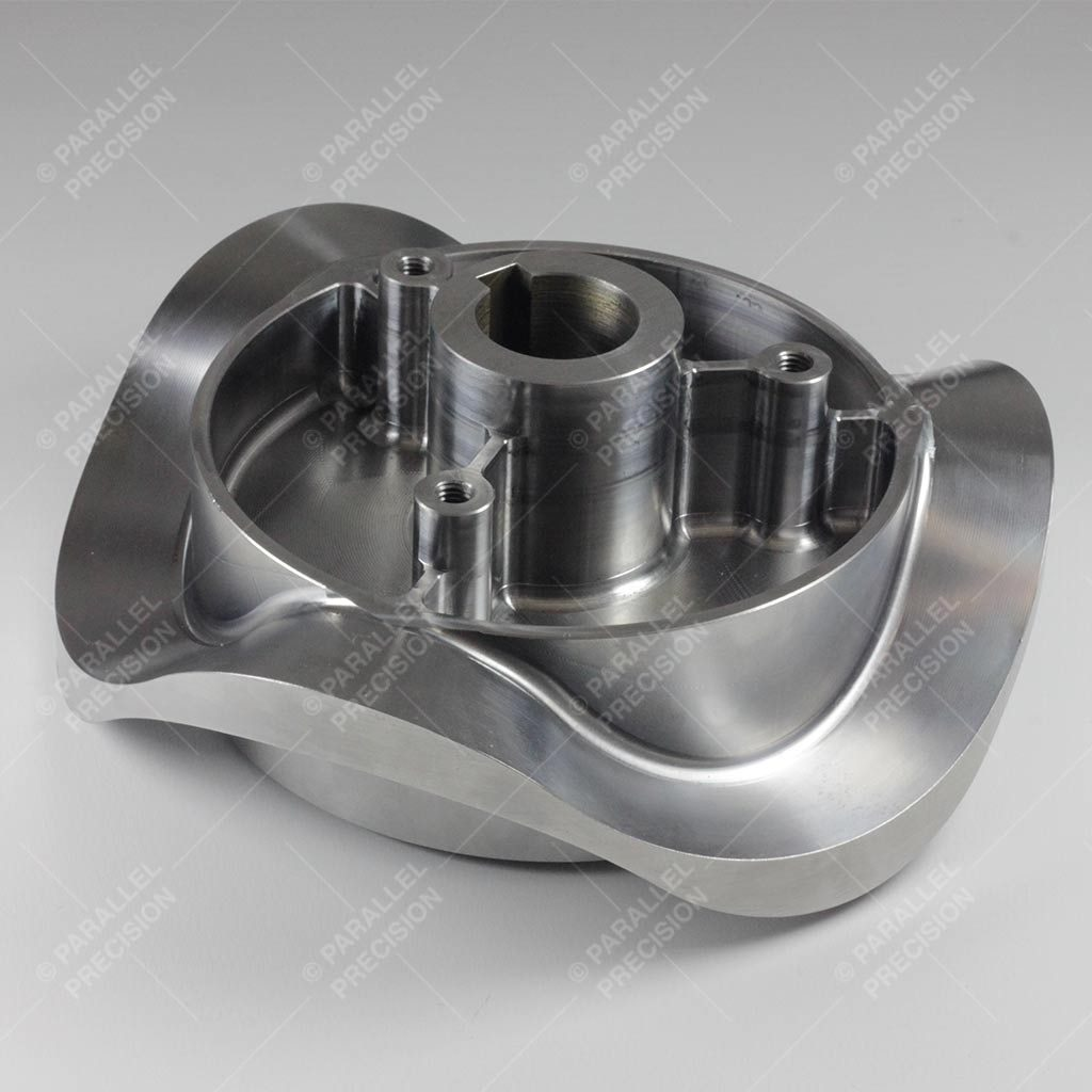 5 Axis CNC Machined Steel Component